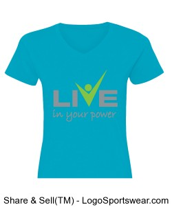 Ladies Fine Jersey V-Neck T-Shirt Design Zoom