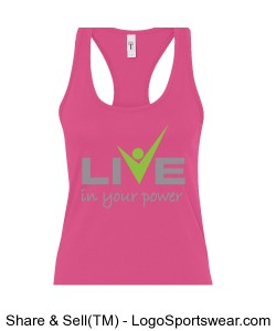 Womens Ideal Racerback Tank Design Zoom